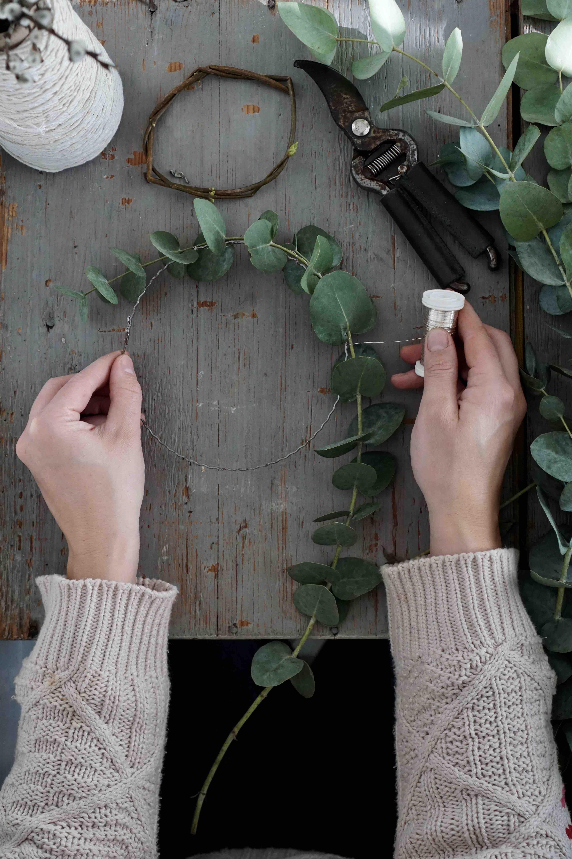 Theresas Küche - Anleitung für Eukalyptuskränze